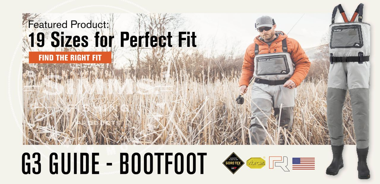 G3 Guide BootFoot Size Options