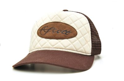 Scott Cap Quilted Leather Patch