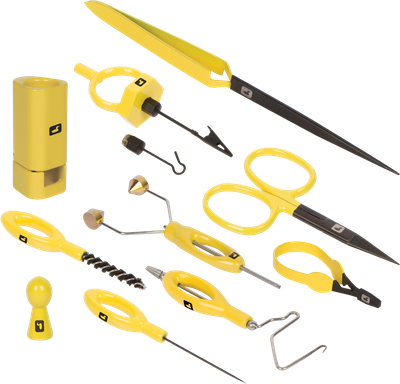 Complete Fly Tying Tool Kit - Yellow