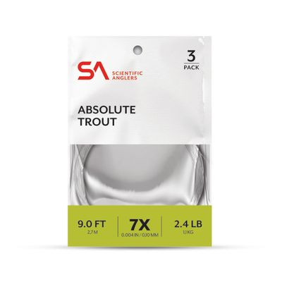 Absolute Trout Leader 9' 3-PK